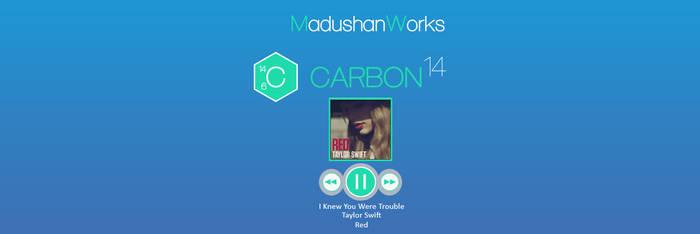 Carbon14  Rainmeter  Skin v.1 by MadushanWorks