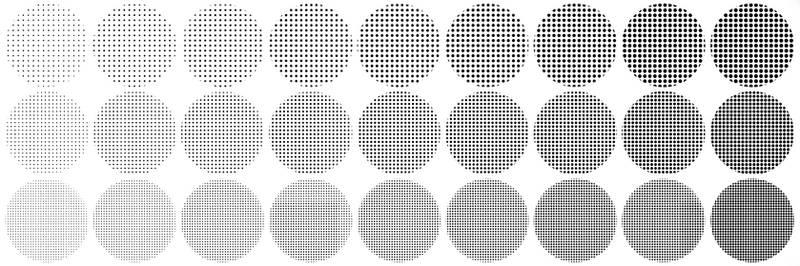 Halftone brush textures for SAI (Edit)
