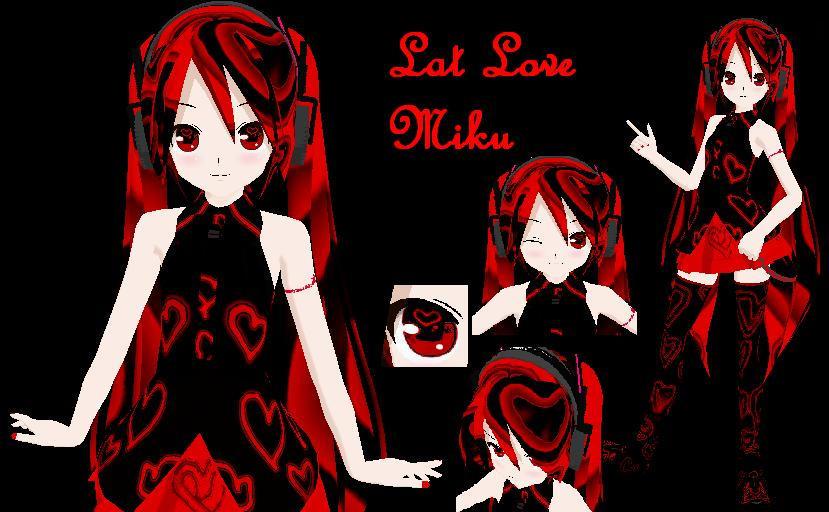 MMD Lat Love Miku Dl by x-MiharuChan-x