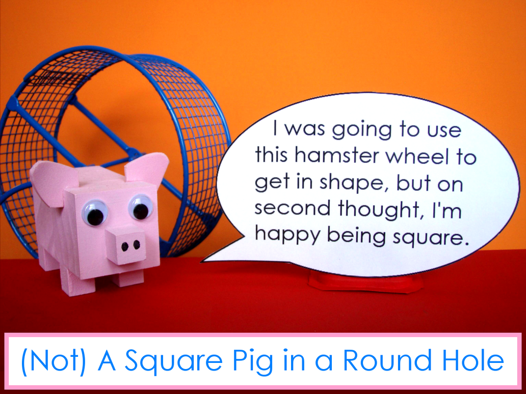 Square Pig (POEM and WOODCRAFT) by BatmanWithBunnyEars