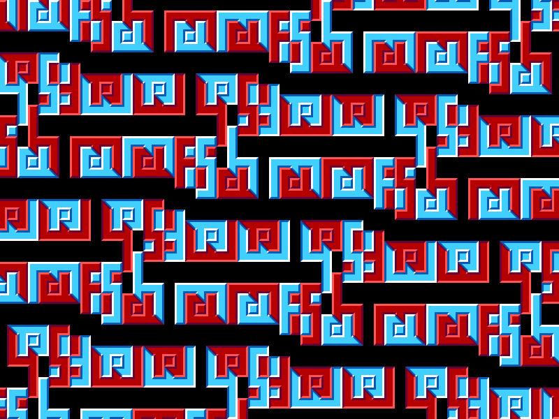 Moving Text Illusion (Ambigram Tessellation) by BatmanWithBunnyEars