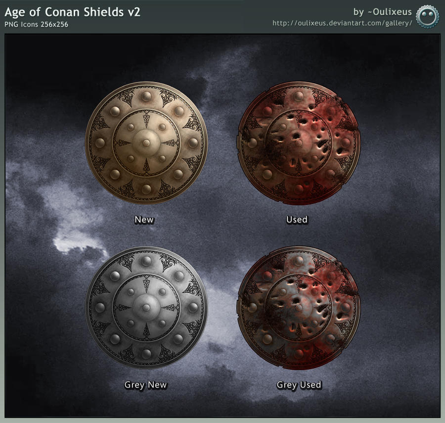 age of conan wallpaper. Age of Conan Shields v2 by