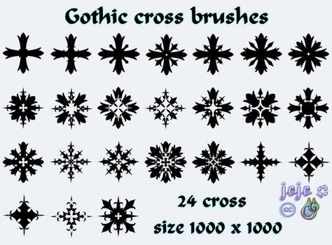 Gothic cross brushes