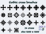 Gothic cross brushes