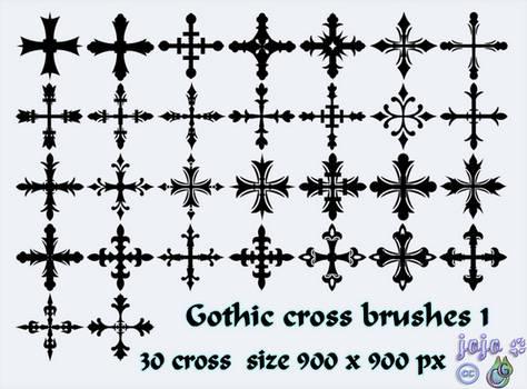 Gothic cross brushes 1