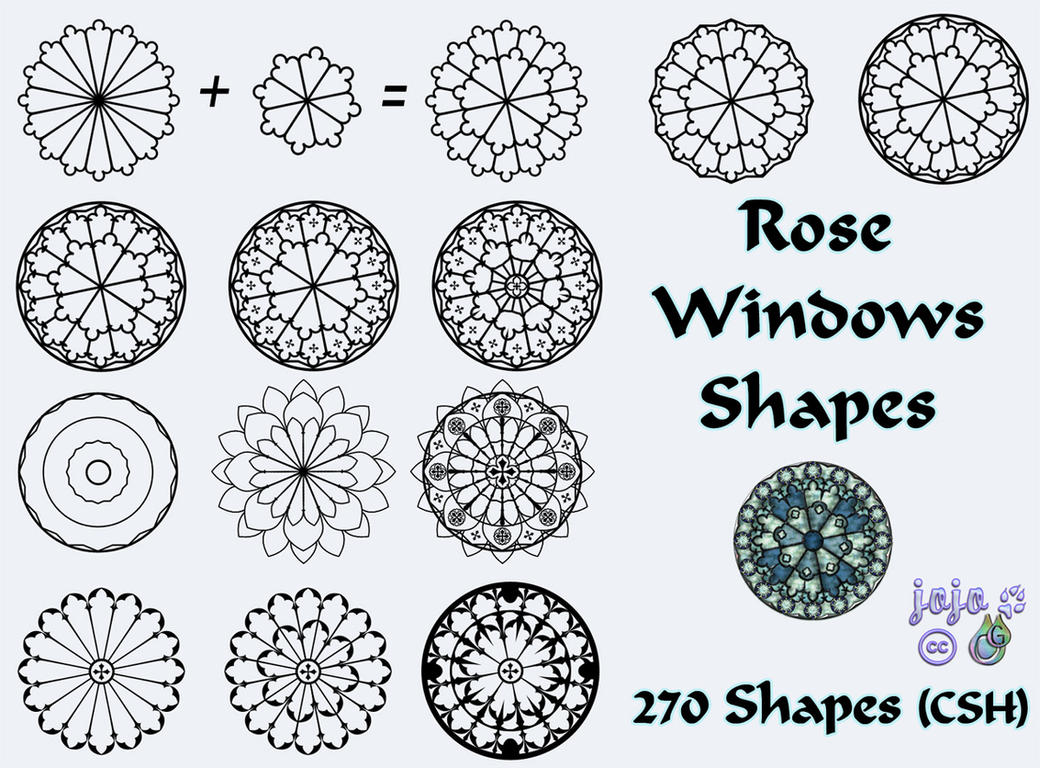 Rose Windows Shapes by jojo-ojoj