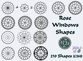 Rose Windows Shapes by jojo-ojoj