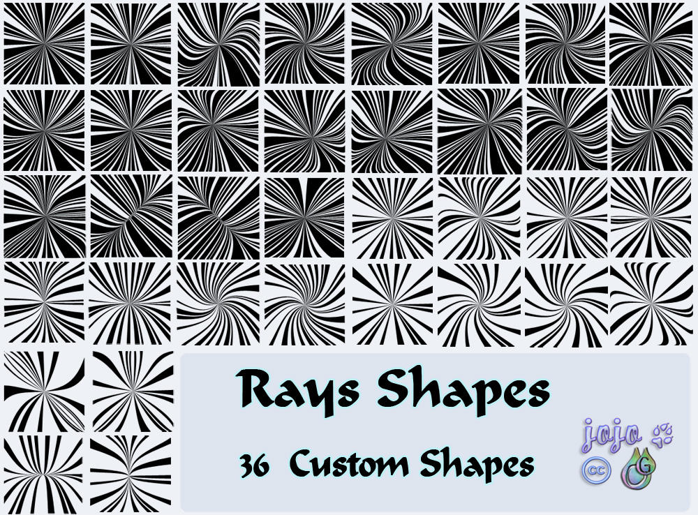 Rays Shapes by jojo-ojoj