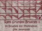 Rays Grunges Brushes 1