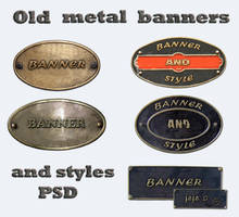 Old metal banners by jojo-ojoj