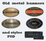 Old metal banners