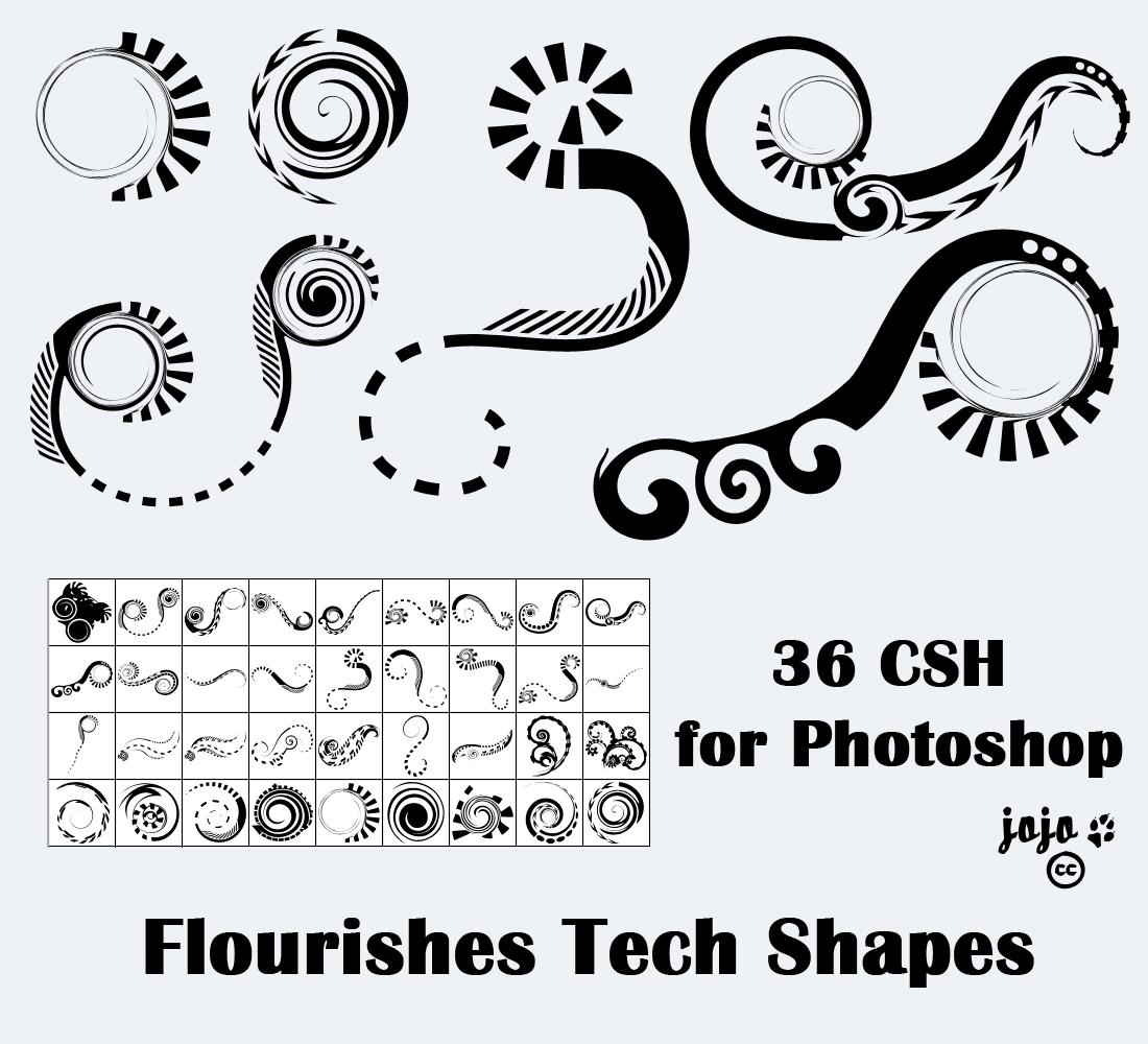 Flourishes Tech Shapes