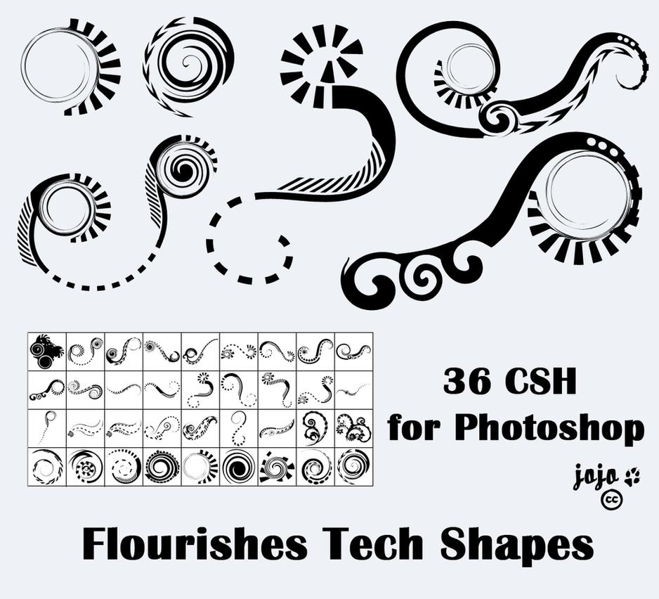 Flourishes Tech Shapes by jojo-ojoj