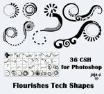 Flourishes Tech Shapes