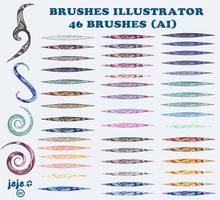 Brushes Illustrator (AI)