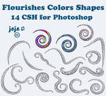 Flourishes Colors Shapes