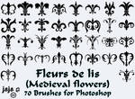 Fleurs de lis (Medieval flowers) Brushes
