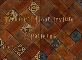 Medieval floor texture  1 (patterns) by jojo-ojoj