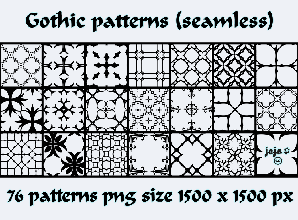 Gothic Patterns By Jojo Ojoj