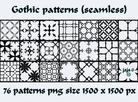 Gothic patterns by jojo-ojoj