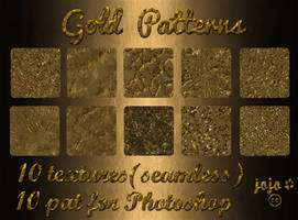 Gold Patterns (seamless textures) by jojo-ojoj