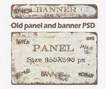 Old panel and banner PSD