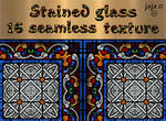 Stained glass seamless texture
