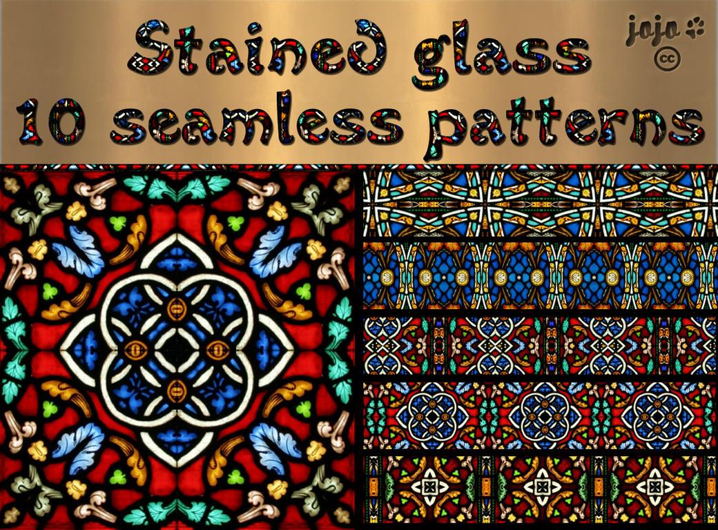 Stained glass seamless patterns by jojoojoj on DeviantArt
