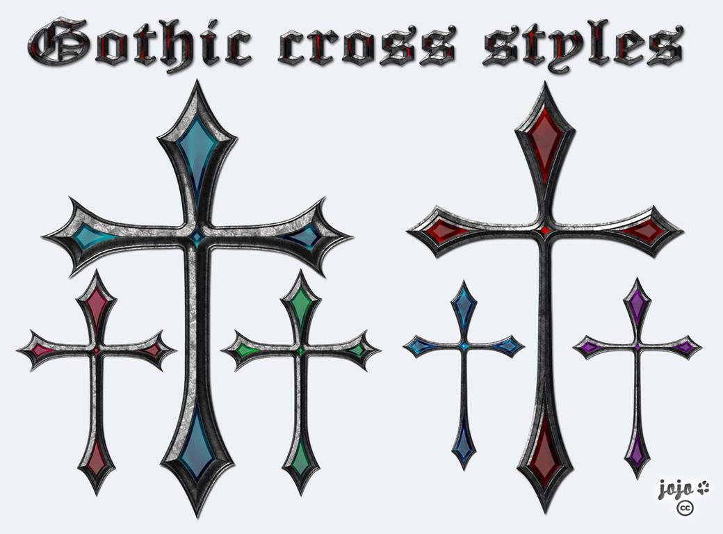 Gothic Cross Styles By Jojo Ojoj