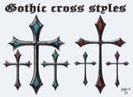 Gothic cross styles