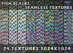 Fish scales seamless textures
