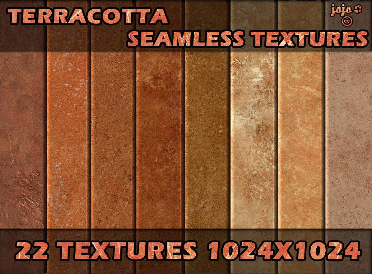 Terracotta seamless textures by jojo-ojoj