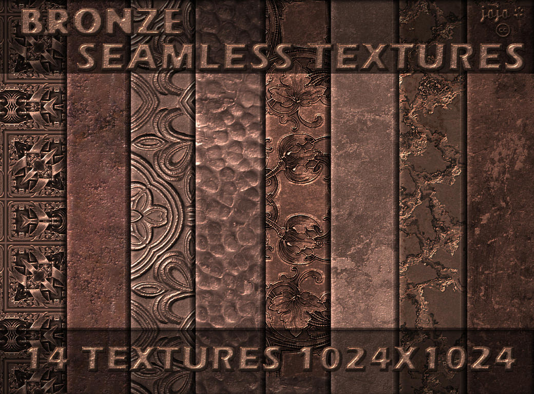 Bronze seamless textures by jojo-ojoj