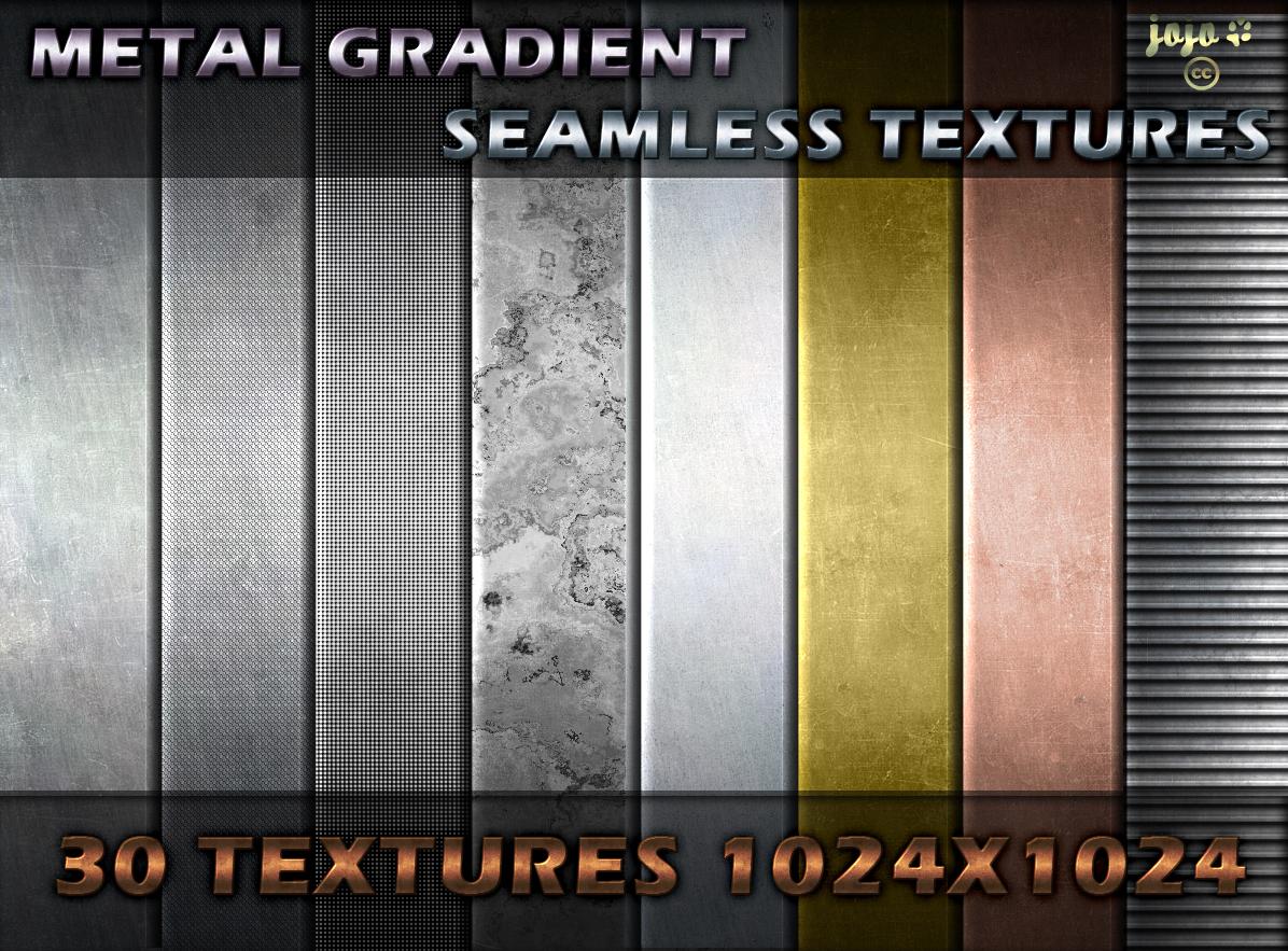 Metal gradient seamless textures by jojo-ojoj