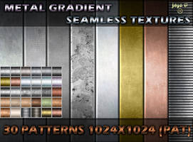 Metal gradient seamless textures (PAT) by jojo-ojoj