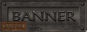 Metal banner PSD