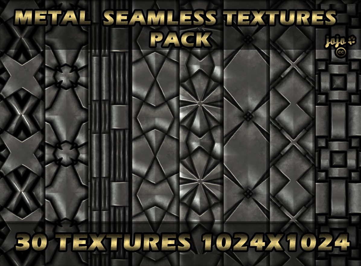 Metal seamless texture pack by jojo-ojoj