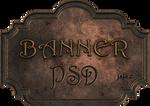 Bronze metal banner PSD 1 by jojo-ojoj