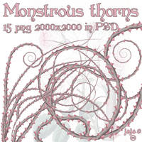 Monstrous thorns png by jojo-ojoj