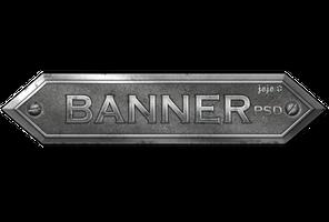 Metal banner PSD 1 by jojo-ojoj