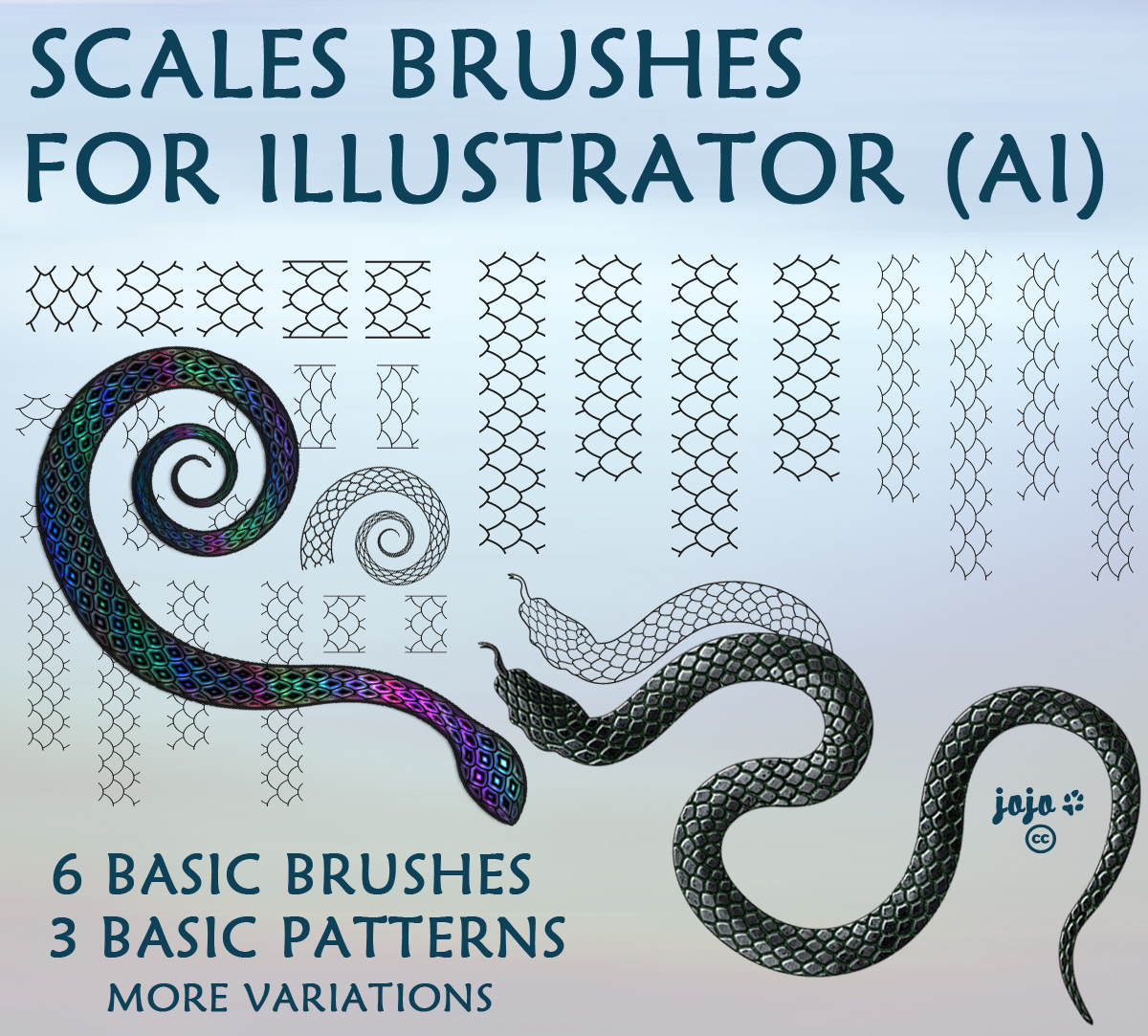 Scales brushes for Illustrator (AI) by jojo-ojoj on DeviantArt