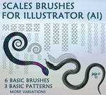 Scales brushes for Illustrator (AI)