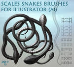 Scales snakes brushes for Illustrator (ai)