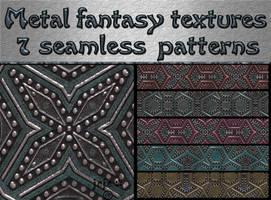 Metal fantasy textures by jojo-ojoj