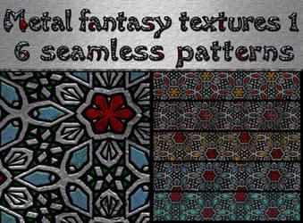 Metal fantasy textures 1 by jojo-ojoj