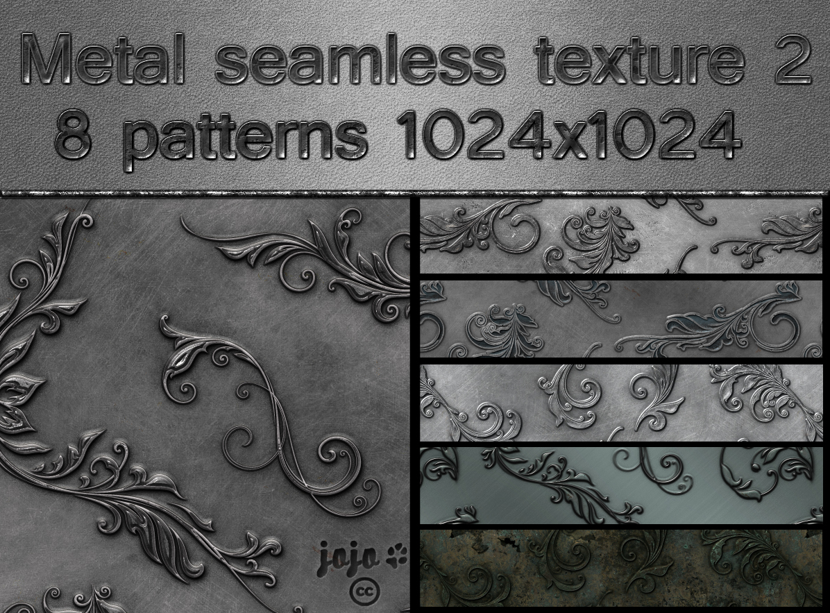 Metal seamless texture pack 2 by jojo-ojoj