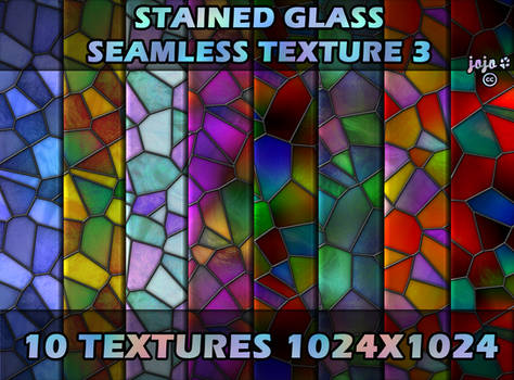 Stained glass seamless texture 3