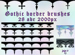 Gothic border brushes