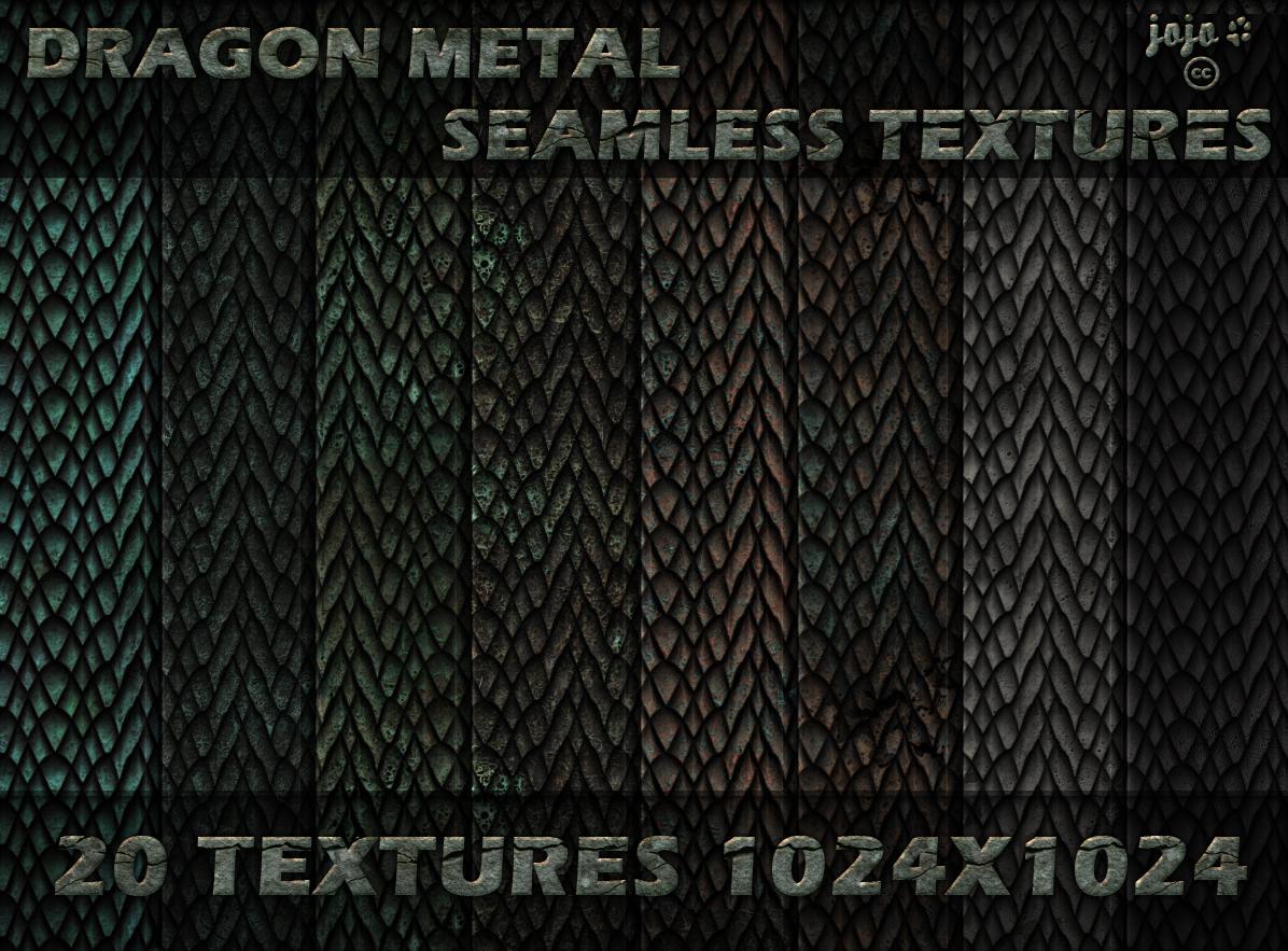 Dragon metal scales seamless textures by jojo-ojoj