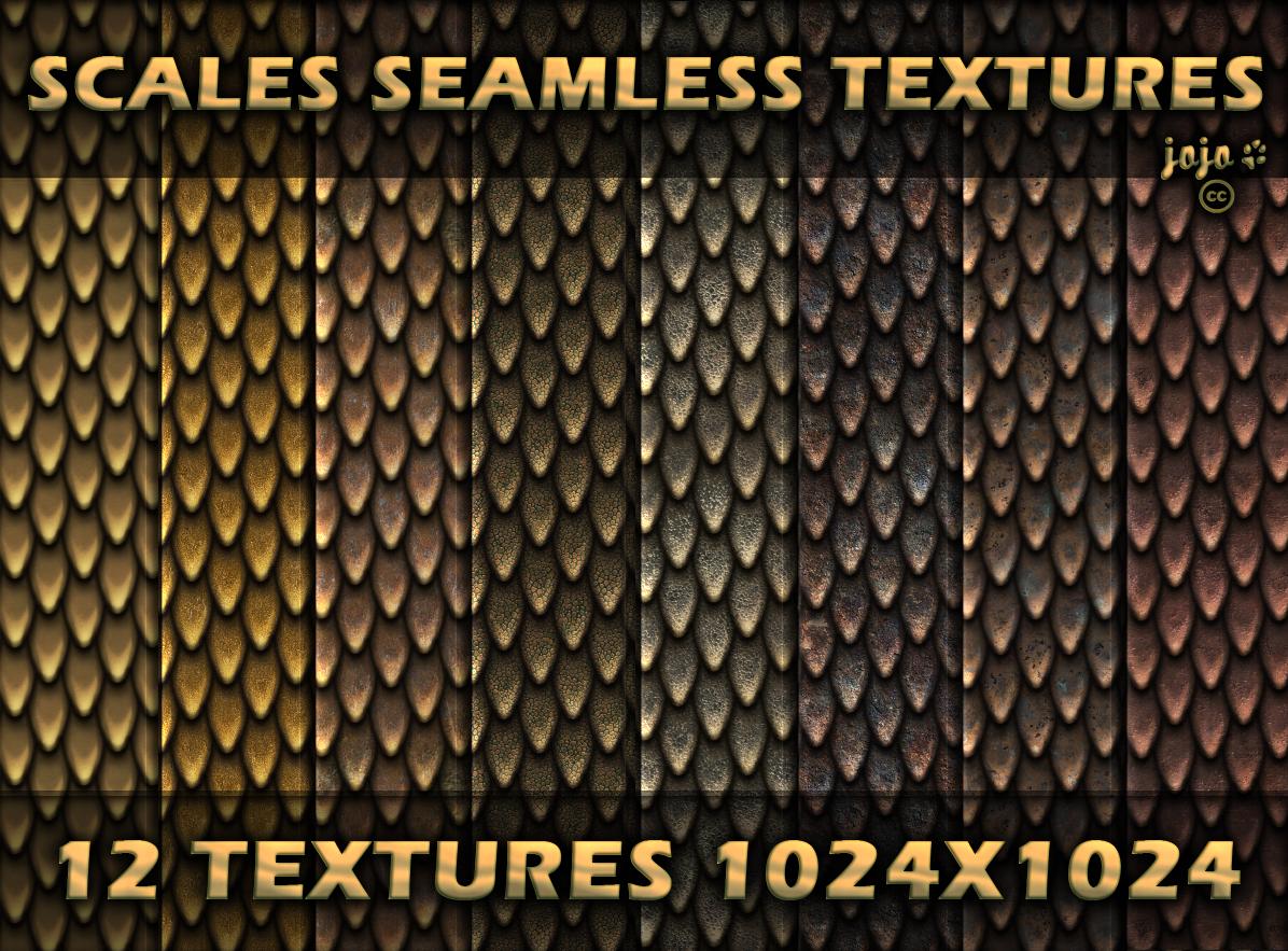 Scales seamless textures by jojo-ojoj